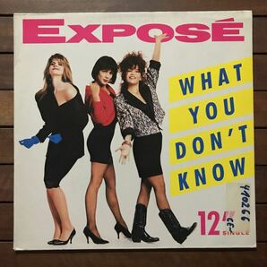 ●【r&b】Expose / What You Don't Know[12inch]オリジナル盤《R43 9595》