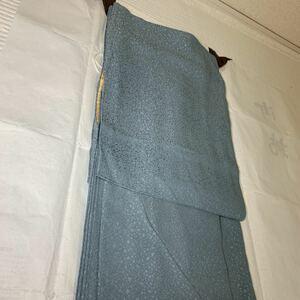 訪問着 色無地 正絹 総模様 一つ紋付き 青色地 着物 和服 和装 着物コーデ リメイク 衣装 百貨店 高級