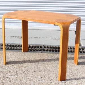 T638) TENDO 天童木工 センターテーブル ローテーブル 座卓 高さ450mm ナラ材 家具 曲木 インテリア