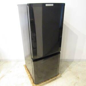 N3877 三菱 ノンフロン 冷凍 冷蔵庫 MR-P15Z-B 2015年製 146L 2ドア ブラック 小型 一人暮らし 家庭用 家電 中古 福井 リサイクル