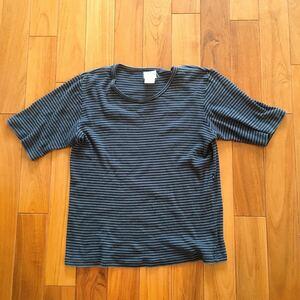 上質 agnes b homme シャツ / ヴィンテージ 古着 アニエスベー オム フランスボーダーシャツ☆サイズ1細身