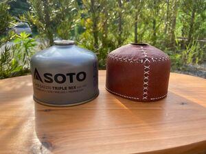 ヌメ革 ガス缶カバー OD缶カバー 250 ラセッテーレザー