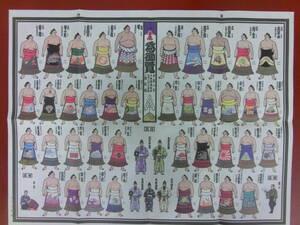 大相撲『絵番付 平成八年 秋場所』