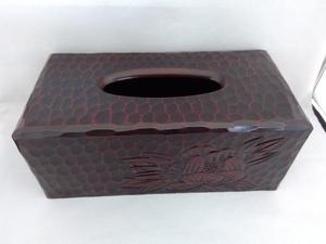 鎌倉彫 牡丹柄 ティッシュボックス