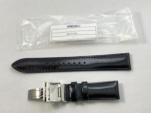 D0151AL SEIKO セイコー メカニカル 20mm 純正革ベルトバックル付 牛皮革 カーフ ブラック SARB065/6R15-01S1用 ネコポス送料無料