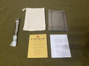 FIREBOX STOVE ファイアボックスストーブ チタン製 おまけ付き 未使用品 キャンプ アウトドア 焚き火台