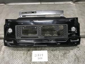 ★H82A 三菱 トッポ ローデスト 平成20年 純正 フロントバンパー スポイラー/フォグ/メッキグリル付 6400C316ZZ AOKI:0894 X42 黒