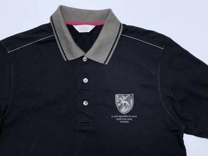 アダバット adabat 吸汗速乾 サルーキ犬 エンブレム 刺繍 半袖ポロシャツ サイズ48 ブラック/その他