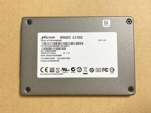 送料込 高耐久 Crucial M500DC 480GB MLC チップ 1900TBW SATA 2.5inch SSD データセンター