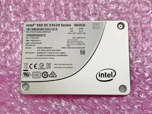 新品同様 Intel SSD DC S3520 960GB 3D MLCチップ SSD SATA 2.5inch サーバー データセンター 停電時保護コンデンサ搭載 ②