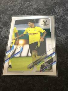 2020-21 Topps Chrome UEFA Champions League Soccer Jadon Sancho Borussia Dortmund Base  カード 即決