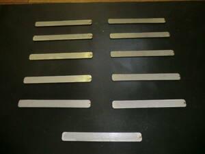 鉄板 約4.5mmx149.8mmx15.8mm 11枚
