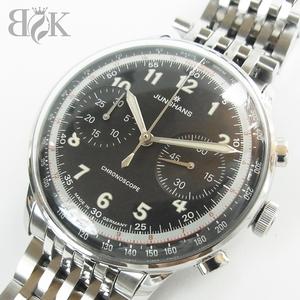 ユンハンス マイスターテレメーター 027/13381.44 腕時計 自動巻き 説明書 ギャランティ 稼働品 JUNGHANS ♪