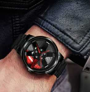 SALE Gadyson 腕時計スーパーカー ホイール スポーツウォッチ レッド