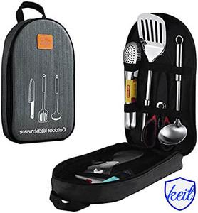 バーベキュー 調理器具 BBQ キャンプ 11点セット キャンプ アウトドア 収納バッグ付き 携帯便利 軽量 車中泊