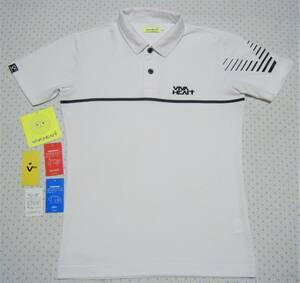 ビバハート VIVA HEART ゴルフ用高機能ポロシャツ 白色 サイズ 48/M相当 吸汗速乾/ストレッチ/UVカット機能 定価 11,000円