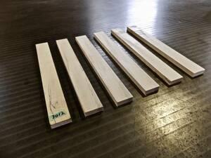 とち(栃)杢 (270×31×10)mm 6枚 無垢一枚板 送料無料 [3012] トチ 木材 板 チジミ杢 スポルテッド 墨流し杢