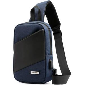 ボディバッグ ショルダーバッグ 斜めがけ ワンショルダーバッグ メンズ 軽量 (ブルー)2