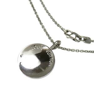 LOUIS VUITTON/ルイ・ヴィトン メダイユ ダイヤモンド ネックレス K18WGホワイトゴールド 13.1g 41cm ユニセックス