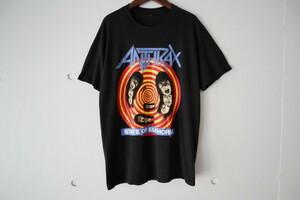 80s ANTHRAX State Of Euphoria アンスラックス Tシャツ ヴィンテージ バンド スラッシュメタル ロック 音楽 ツアー ノットマン 90s