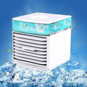715 【訳あり商品】ミニ冷風扇 ミニ冷風機 卓上冷風扇 冷風機 扇風機 ミニエアコン 角度調節可能 3階段風力