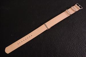 ◆レザー NATO G10ストラップ◆高品質国産ヌメ革 18mm ナチュラル タン 日本製 本牛革 ミリタリー ブレスレット 腕時計ベルト
