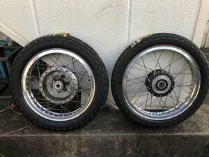 送料無料 Z1 Z2 用 H型 アルミリム ステンレススポーク タイヤ新品 TT100 ダンロップ ハブ ベアリング新品 H2 750SS マッハ
