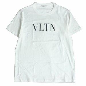 未使用品□19SS ヴァレンティノ UV3MG10V3LE コットン100% クルーネック 半袖 VLTNロゴTシャツ ホワイト M イタリア製 正規品