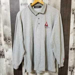 le coq sportif GOLF COLLECTION ルコック ゴルフ 長袖 ポロシャツ Mサイズ グレー