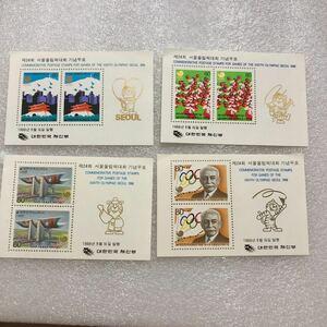 0257 外国切手 韓国切手 小型シート オリンピック切手