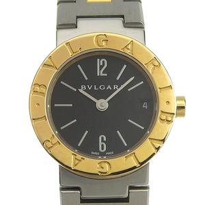 ブルガリ BVLGARI ブルガリブルガリ レディース クォーツ 腕時計 SS YG ブラック文字盤 BB23SGD 中古 新入荷 BV0106