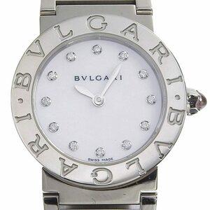 ブルガリ BVLGARI 時計 ブルガリブルガリ レディース クォーツ 腕時計 12Pダイヤ SS ホワイトシェル文字盤 BBL26S 中古 新入荷 BV0111