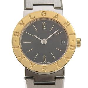 ブルガリ BVLGARI 時計 ブルガリブルガリ レディース クォーツ 腕時計 SS YG ブラック文字盤 BB23SG 中古 新入荷 BV0115