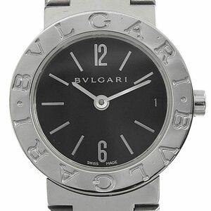 ブルガリ BVLGARI 時計 ブルガリブルガリ レディース クォーツ 腕時計 SS ブラック文字盤 BB23SS 中古 新入荷 BV0110