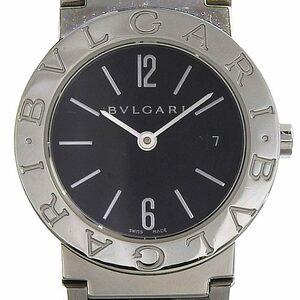 ブルガリ BVLGARI 時計 ブルガリブルガリ レディース クォーツ 腕時計 SS ブラック文字盤 BB26SS 中古 新入荷 BV0113