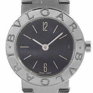 ブルガリ BVLGARI 時計 ブルガリブルガリ レディース クォーツ 腕時計 SS ブラック文字盤 BB23SS 中古 新入荷 BV0112