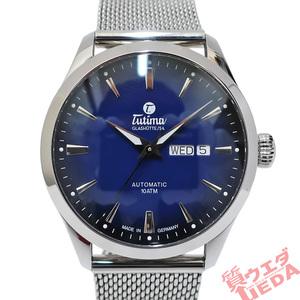 【栄】TUTIMA チュチマ フリーガー スカイ 6105-22 SS ブルー 青 デイデイト 自動巻き メンズ 腕時計 その他 男