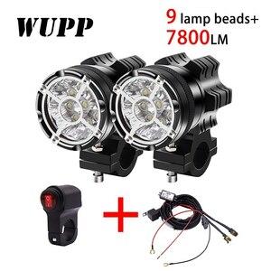 2 個 汎用 9 チップヘッドライト LED オートバイ カスタム 高品質 7800 LM モトスポットライト 防水 霧スポット モト 電球高輝度