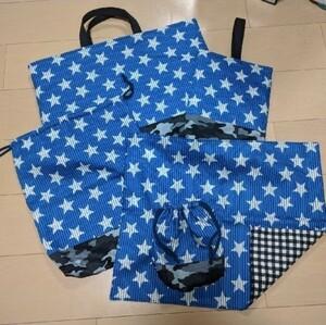 入園入学用品5点セット レッスンバッグ ハンドメイド 上履き袋 体操着袋 絵本バッグ ランチョンマット