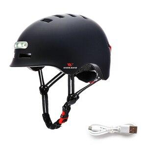 新品 ヘルメット tailligh ヘッドライトUSB 充電式信号警告 安全 電動 ヘルメット ml 黒 バイク 保護 アクセサリー