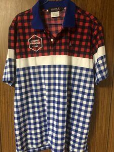 《le coq sportif GOLF ルコックゴルフ》トリコロールカラー 半袖シャツ Lサイズ