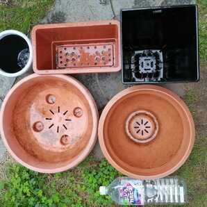 大型プラスチック製 プランター 5個セット 植木鉢