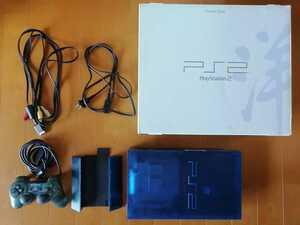美品 SONY PS2 PlayStation2 プレステ2 本体1式 SCPH-37000 プレイステーション2 オーシャンブルー 動作確認済