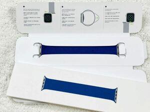 即決!!送料無料!! Apple ブレイデッドソロループ 44mm アトランティックブルー アップル ウォッチ Watch 純正 正規 42mm