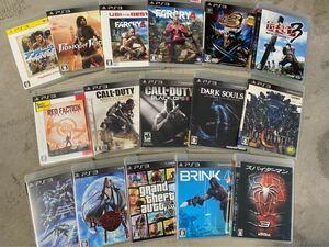 PS3ソフト コールオブデューティ ファークライなどソフト17本 まとめ売り 送料込