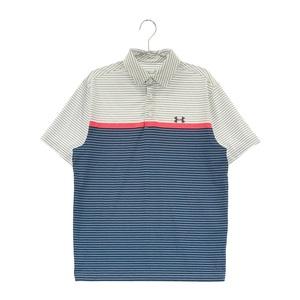 UNDER ARMOUR アンダーアーマー 半袖ポロシャツ ボーダー柄 ホワイト系 LG [240001583271] ゴルフウェア メンズ