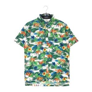 LECOQ GOLF ルコックゴルフ 半袖ポロシャツ 総柄 グリーン系 L [240001582709] ゴルフウェア メンズ