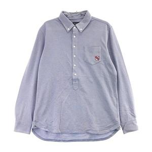 PEARLY GATES パーリーゲイツ 053-6161101 長袖ポロシャツ ブルー系 6 [240001545224] ゴルフウェア メンズ