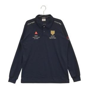 【即決】LECOQ GOLF ルコックゴルフ 長袖ポロシャツ ネイビー系 LL [240001544993] ゴルフウェア メンズ
