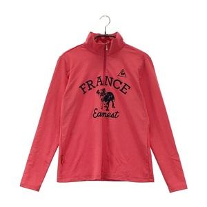 【即決】LECOQ GOLF ルコックゴルフ ハーフジップ 長袖 Tシャツ ピンク系 L [240001562520] ゴルフウェア レディース